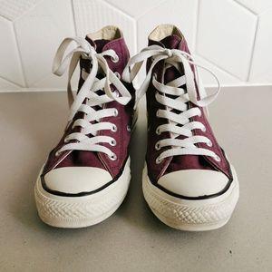 Burgundy Converse Chuck Taylor High Tops